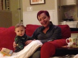 Auntie Leslie came to visit.